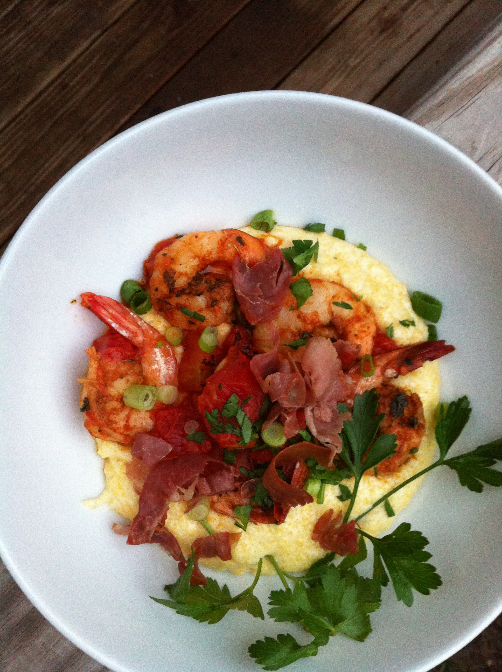 Shrimp and Grits by way of Spain