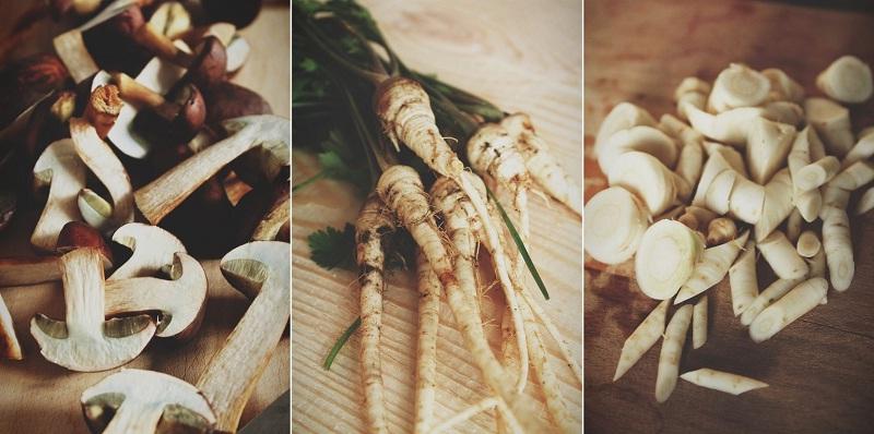 Rustic Roasted Pumpkin and Mushrooms