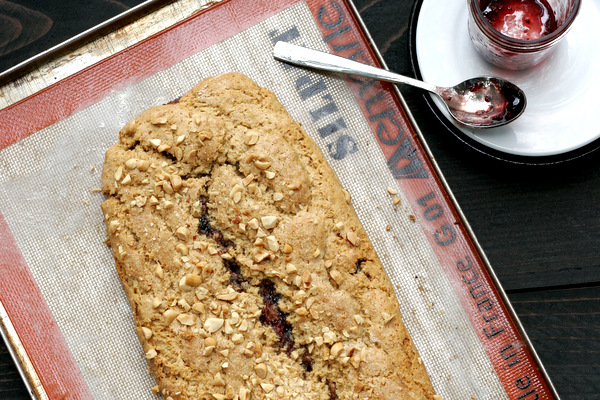 Peanut Butter and Jam Scones