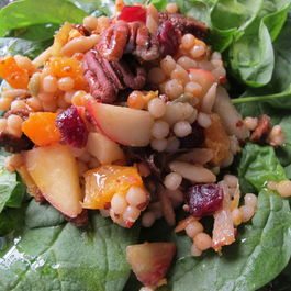 Israeli Couscous-Butternut Squash Salad with Fruit, Cheese + Orange Vinaigrette