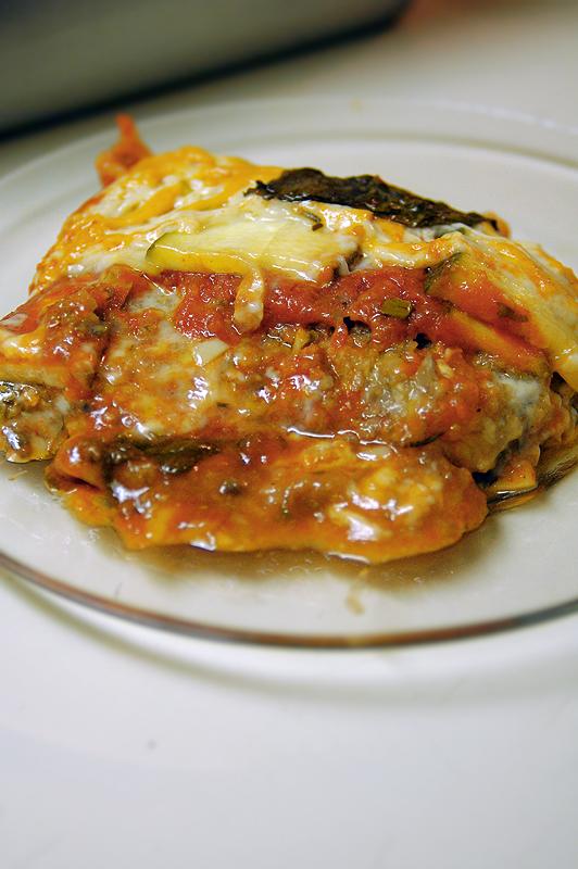 Zucchini and Mushroom Lasagna