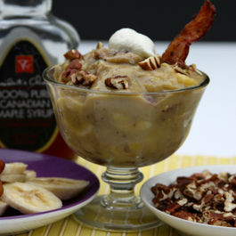 Maple Pecan Banana Pudding with Bacon