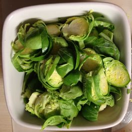 Tangy Brussels Sprouts with Apple
