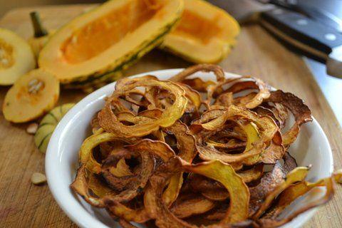 Delicata squash chips