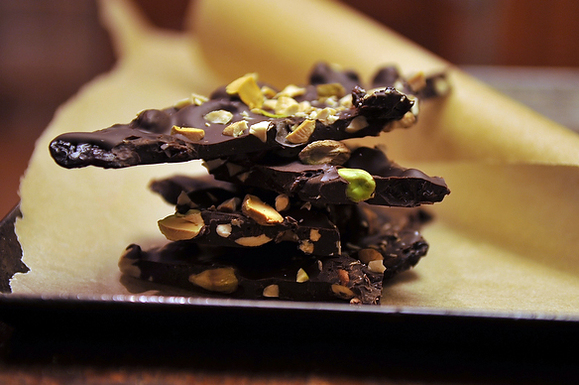 Ancho Chili-Cinnamon Chocolate Bark