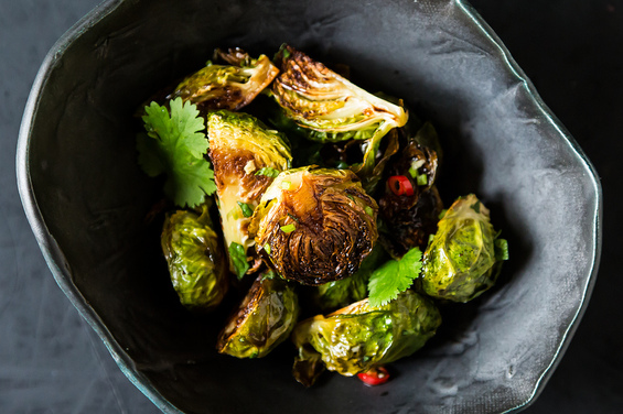 Momofuku's Roasted Brussels Sprouts with Fish Sauce Vinaigrette