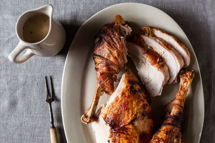Bacon Turkey with Gravy form Food52