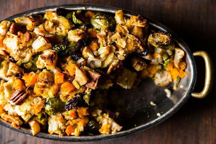 Roasted Brown Butter Butternut Squash, Apples And Brussels ...
