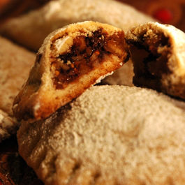 Holiday Spice Pockets with Brandied Figs and Chocolate