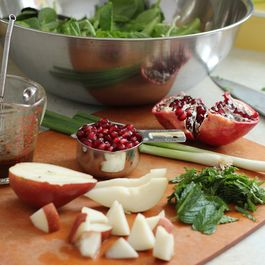 Poppyseed, Pomegranate and Pear Salad