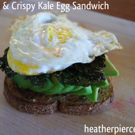 Best Breakfast Ever: Avocado, Egg, & Crispy Kale Sandwich