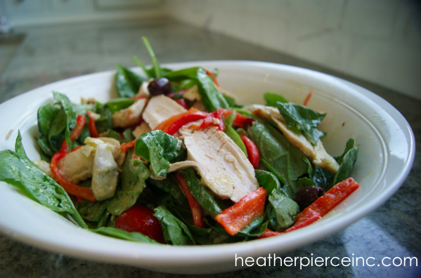 Mediterranean Salad with Broiled Chicken
