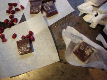 Spiced Pomegranate and Orange Caramels