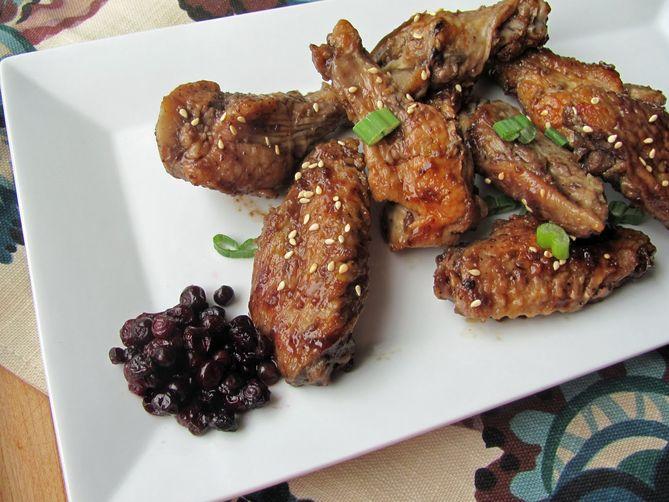 Huckleberry Glazed Chicken Wings