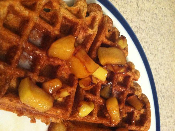 Spiced Waffles With Caramelized Apples Recipes — Dishmaps