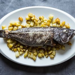 Whole Roasted Fish with Rosemary Potatoes