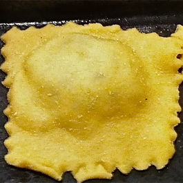 Leek Ravioli with Lamb Sauce