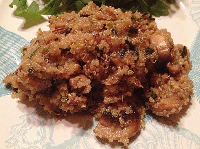 Caramelized Leek, Fennel and Mushroom Quinoa