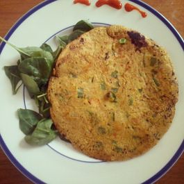 Indian spiced scallion pancake