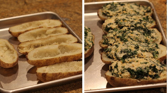 Twice-Baked Potatoes with Kale