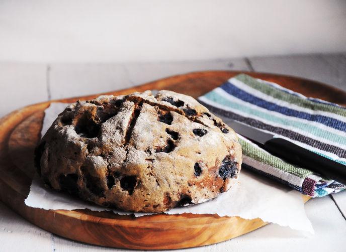 blueberry, oat & buckwheat loaf