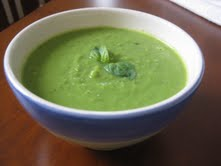 Pea and leek soup