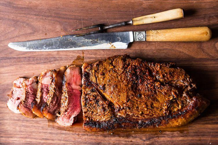 Steak for a Brooklyn Backyard Barbecue