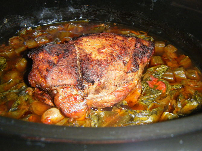 Raise the Red Lantern (Red braised pork, slow cooker style)