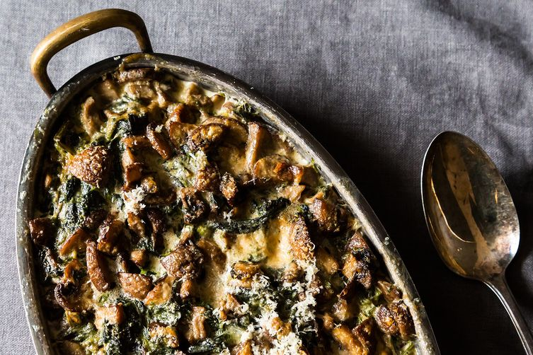 Spinach, Mushrooms, and Cream for Dinner from Food52