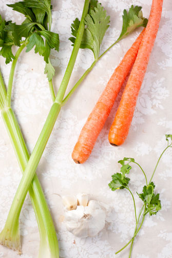 Vegetarian Flu-Fighting Noodle Soup