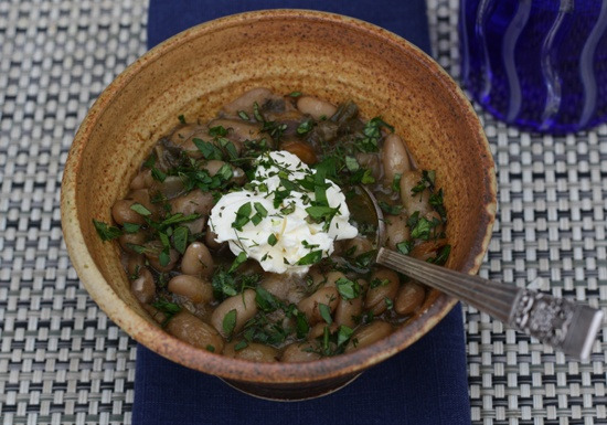 White Bean Stew with Pumpkin