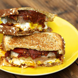 Pork and Eggs Breakfast Sandwich