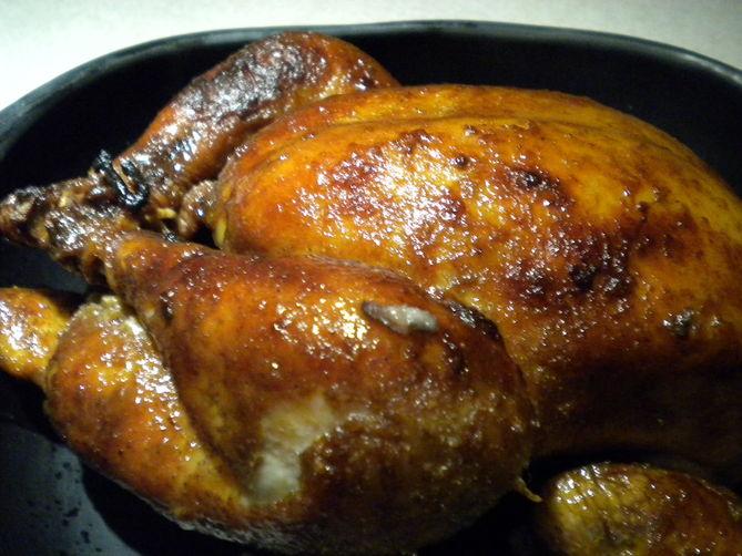 Lemon Tea Brined Slow Roasted Chicken
