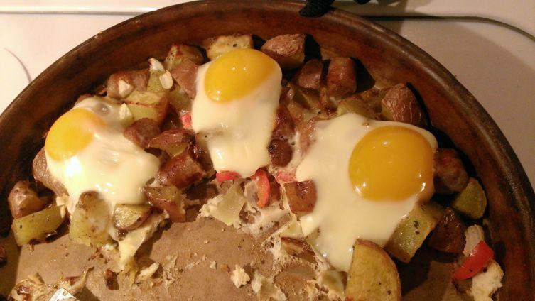 Sunny side Marjoram Breakfast Hash