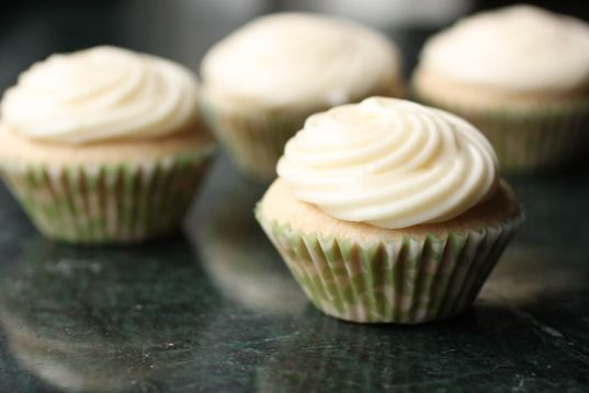 chai cupcakes with honey-ginger frosting