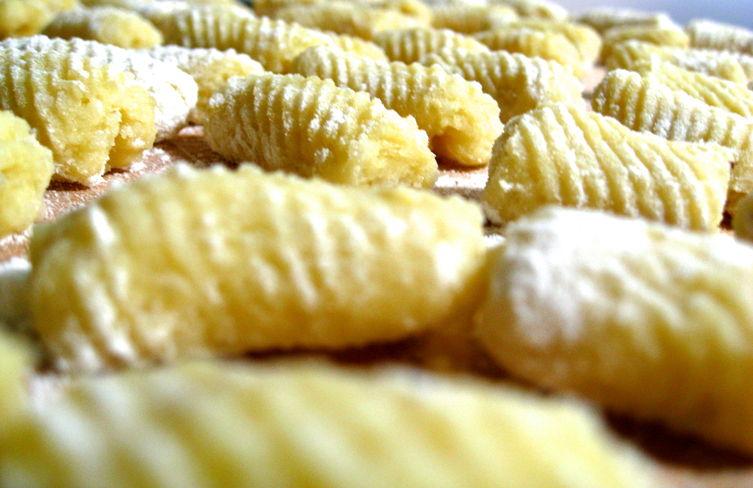 Gnocchi and Tiny Meatballs with Creamy Parsley Pesto