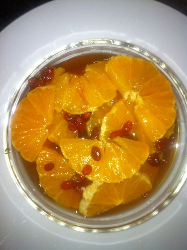 orange and goji berry salad
