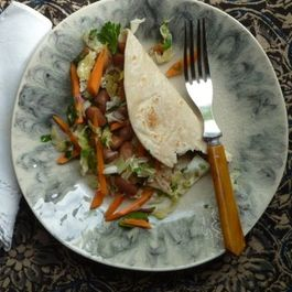 Spiced Bean Tacos with Cabbage and Carrot Relish