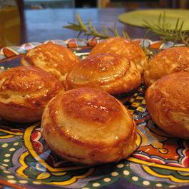 Ebelskivers with pecorino and honey