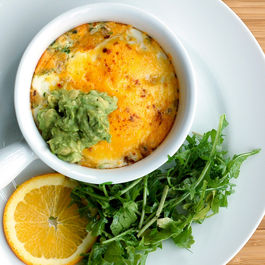 baked eggs with guac