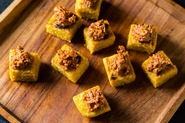 Polenta Squares with Sun-Dried Tomato and Walnut Tapenade