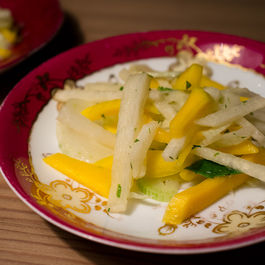 Fennel, Jicama and Green Mango Salad with Lime Herb Vinaigrette