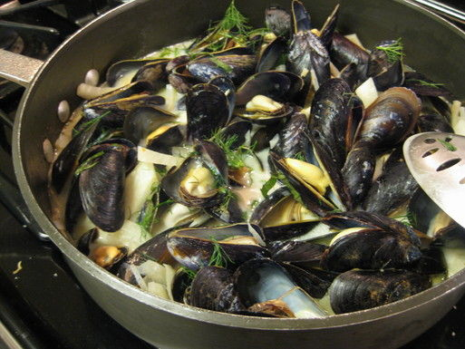 Mussels with Fennel and Coconut