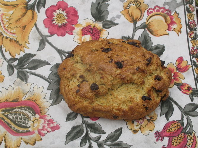 'Other Than Irish' Soda Bread with Cumin, Fennel and Figs
