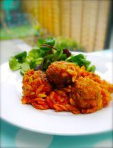 Meatballs_and_orzo