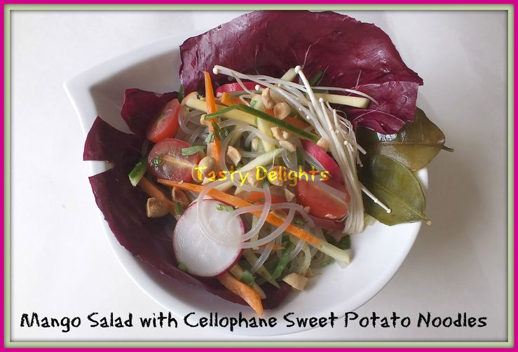 Green Mango Salad with Sweet Potato Noodles
