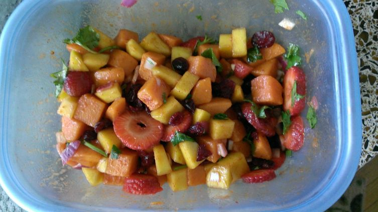 Summer sweet potato salad