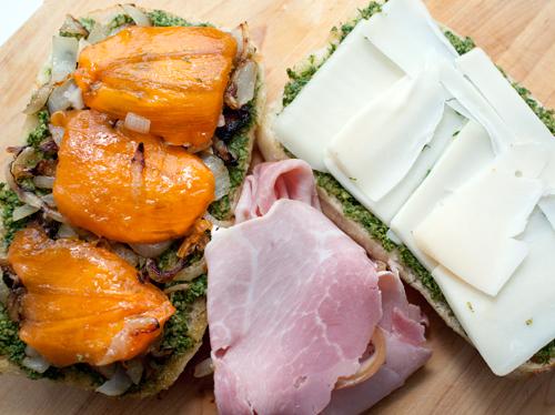 Persimmon Ham Sandwich