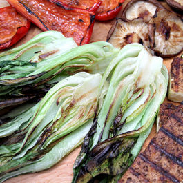 Grilled-bok-choy-vegetables-and-tofu