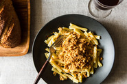 Cavatelli with Asiago Oat Crumbs